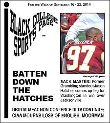 Black College Sports Page: Vol 21, No 7: Batten Down the Hatches