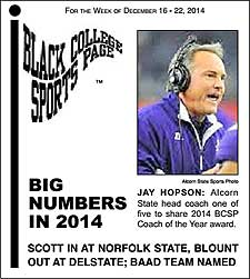 Black College Sports Page: Vol 21, No 20: Big Numbers In 2014