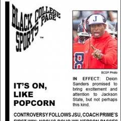 Black College Sports Page: Vol 27, No 30: It's On, Like Popcorn